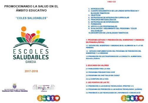 Programa 2017-2018 Coles Saludables