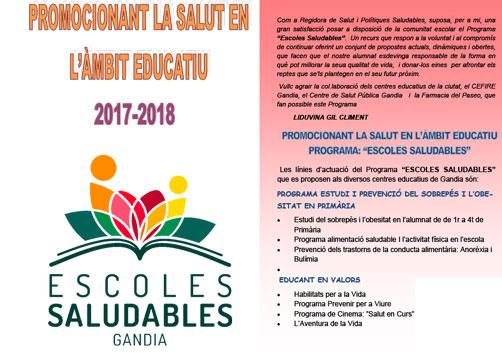 Diptico Escoles Saludable 2017-2018