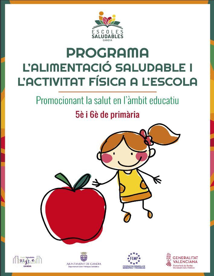 """Programa de """"L'Alimentació Saludable i L'Activitat Física a l'Escola. 5è i 6è de Primària"""