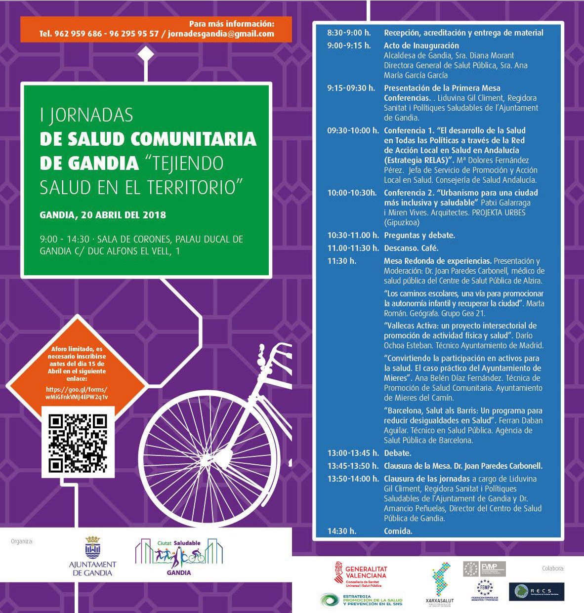 Invitación de la I Jornadas Salud Comunitaria