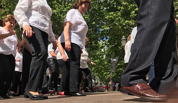 Exibición Grupo Baile en Linea iniciación